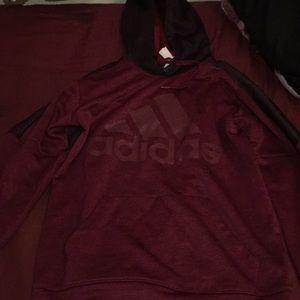 Adidas burgundy hoodie